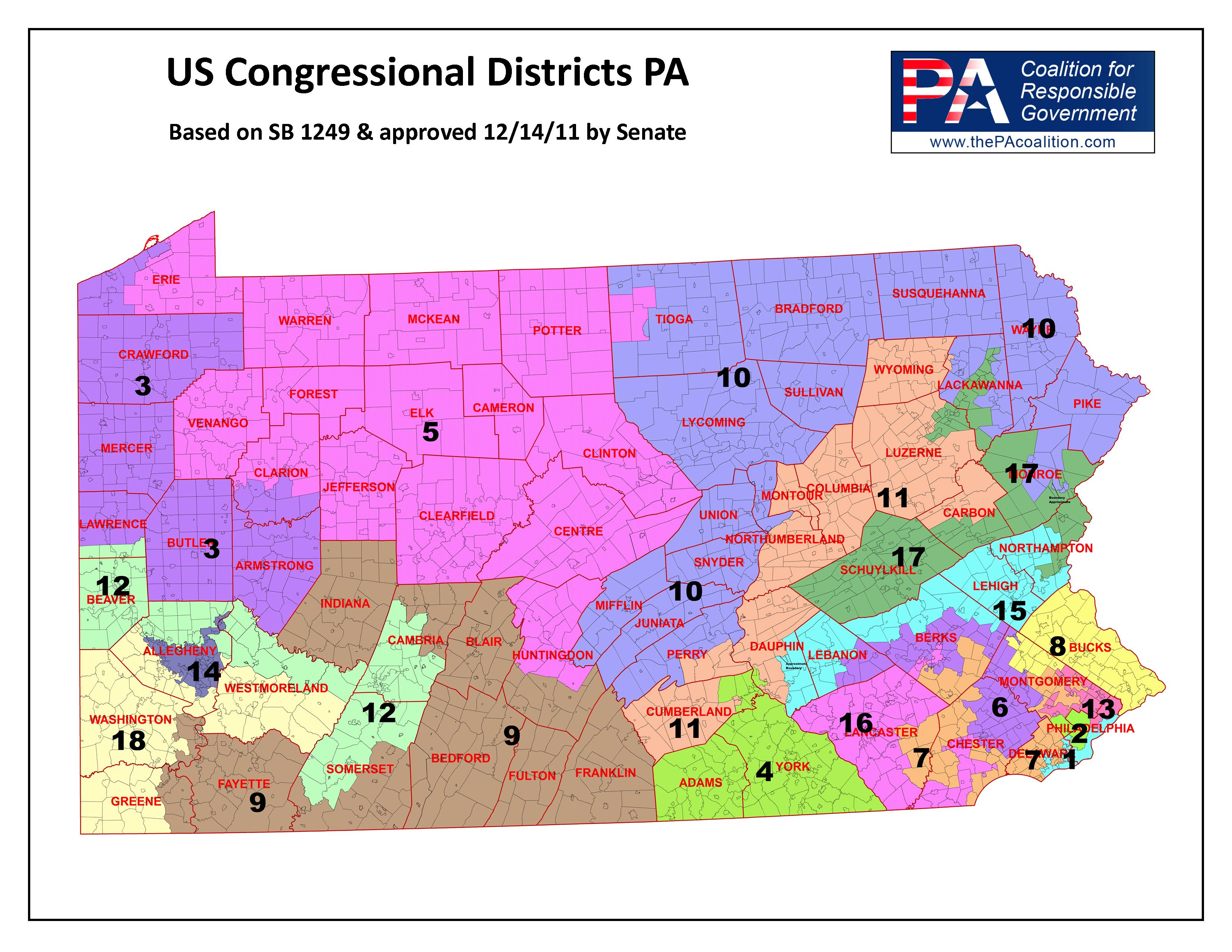 Simple Pennsylvania Election Districts Map Afputracom - Us congress election map